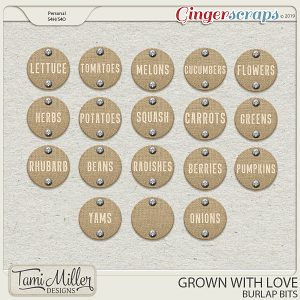 Grown with Love Burlap Bits by Tami Miller Designs