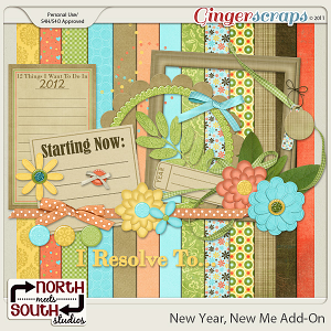 New Year, New Me {Add-on Mini Kit} by North Meets South Studios