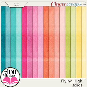 Flying High Solid Papers by ADB Designs