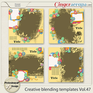 Creative blending templates Vol.47
