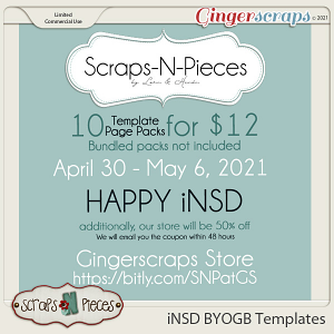 10 Template Packs for $12 iNSD 2021 - Scraps N Pieces