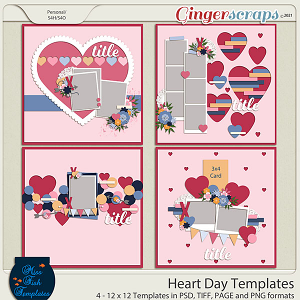 Heart Day Templates by Miss Fish