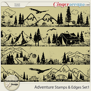 Adventure Stamps & Edges Set1