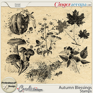 Autumn blessings Stamps by PrelestnayaP Design and CarolW Designs