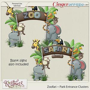 Zoofari Park Entrance Clusters