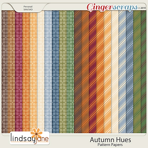 Autumn Hues Pattern Papers by Lindsay Jane
