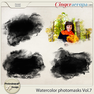Watercolor photomasks Vol.7