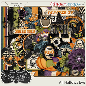All Hallows Eve Digital Scrapbooking Kit