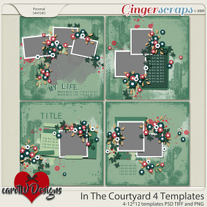 In The Courtyard 4 Templates by CarolW Designs