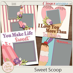 The Cherry On Top:  Sweet Scoop Templates