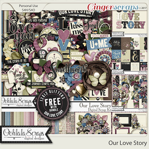 Our Love Story Digital Scrapbook Bundle