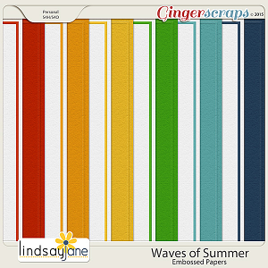 Waves of Summer Embossed Papers by Lindsay Jane
