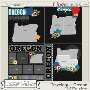 Travelogue Oregon - 12x12 Temps (CU Ok) by Connie Prince