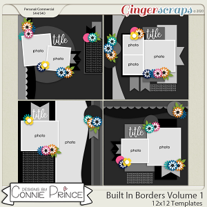 Built In Borders Volume 1 - 12x12 Temps (CU Ok) by Connie Prince