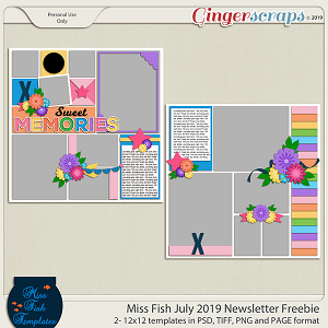 Miss Fish July 2019 Newsletter Freebie