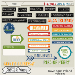Travelogue Ireland - Word Bits