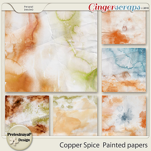 Copper spice Painted papers