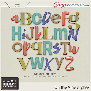 On the Vine Alpha Sets by Aimee Harrison
