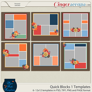 Quick Blocks 1 Templates by Miss Fish