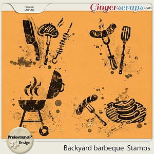Backyard barbeque Stamps