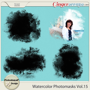 Watercolor photomasks Vol.15