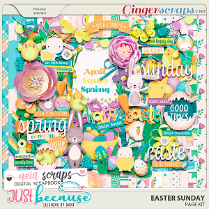 Easter Sunday Page Kit by JB Studio and Neia Scraps