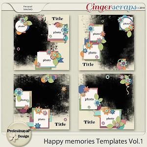 Happy memories templates Vol.1