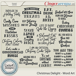 Christmas Delight - Word Art by CathyK Designs