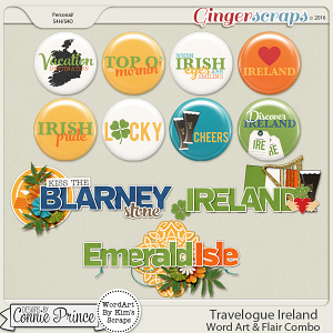 Travelogue Ireland - Word Art & Flair Pack