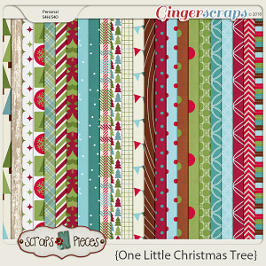 One Little Christmas Tree Papers by Scraps N Pieces