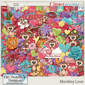 Monkey Love {Kit} by Day Dreams 'n Designs