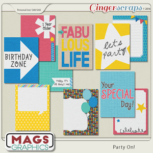 Party On JOURNAL CARDS by MagsGraphics