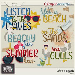 Life's a Beach Titles by Aimee Harrison