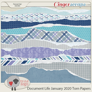Document Life January 2020 Torn Papers by Luv Ewe Designs