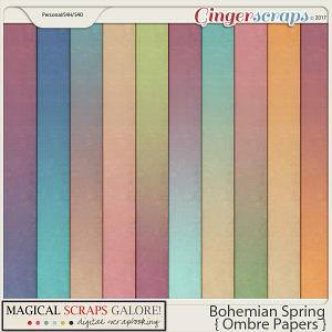 Bohemian Spring (ombré papers)