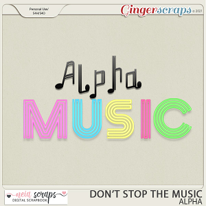 Don't Stop the Music - Alpha - by Neia Scraps