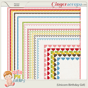Unicorn Birthday Girl Borders