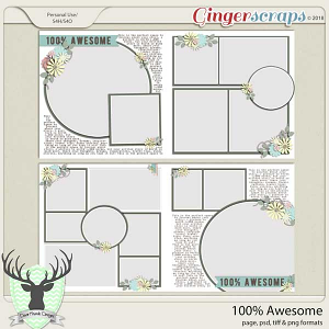 100% Awesome Templates by Dear Friends Designs
