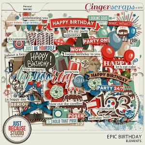 Epic Birthday Elements by JB Studio