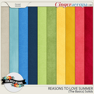 Reasons to Love Summer - The Basics Solid Papers by Lisa Rosa Designs