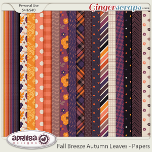 Fall Breeze Autumn Leaves - Papers by Aprilisa Designs