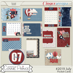 #2019 July - Pocket Cards by Connie Prince