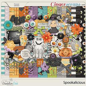 Spookalicious Digital Scrapbook Kit By Dandelion Dust Designs