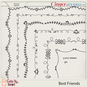 Best Friends Page Borders