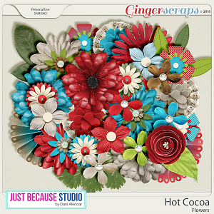 Hot Cocoa Flowers by JB Studio