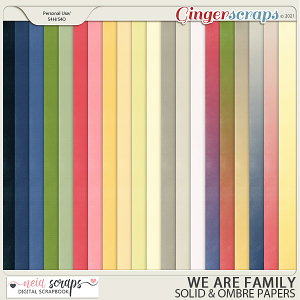 We Are Family - Solid & Ombre Papers - by Neia Scraps