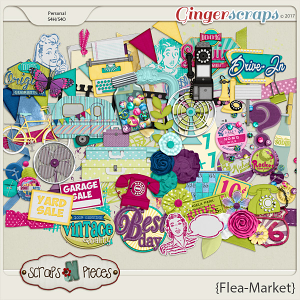 Flea Market Elements by Scraps N Pieces