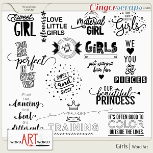 Girls Word Art