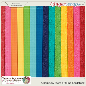 A Rainbow State of Mind Cardstock by Trixie Scraps Designs