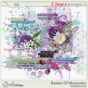 Basket Of Memories-Artbits & word art